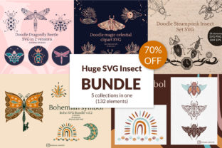 Huge Doodle Graphic Insect Bundle Graphic Crafts By Tatyana_Zenartist