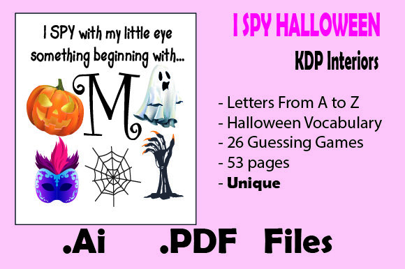 I Spy Halloween for Kids - Kdp Interiors Graphic KDP Interiors By KDP_Interior_101