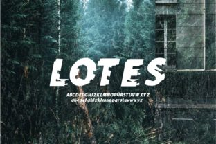Print on Demand: Lotes Color Fonts Font By lastroll studio