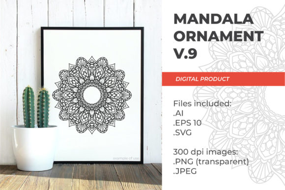 Print on Demand: Mandala - Floral Vintage - V.9 Graphic Coloring Pages & Books Adults By ImGhani