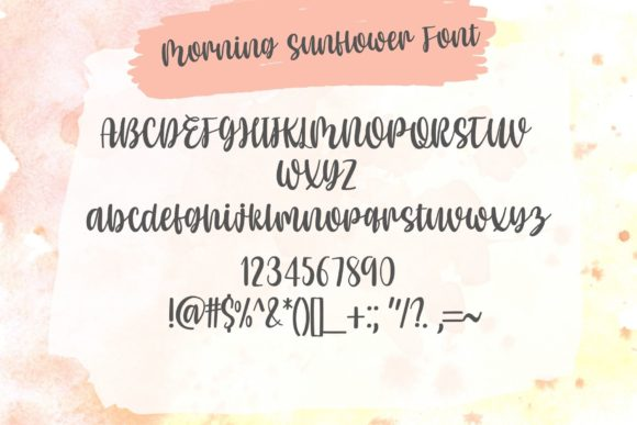 Morning Sunflower Font Popular Design
