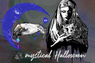 Print on Demand: New Halloween Mystical Drawings Symbols Graphic Graphic Templates By Anna Tarach