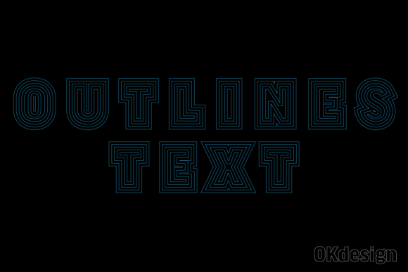 Outlines Text Effect Preset Ai Graphic Layer Styles By OKdesign