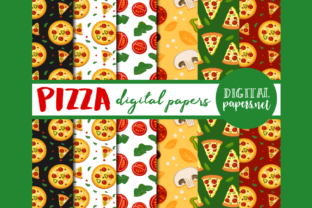 Print on Demand: Pizza Digital Papers Graphic Illustrations By DigitalPapers