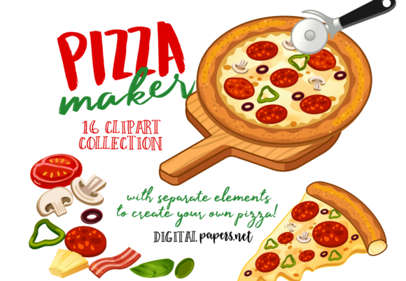 Print on Demand: Pizza Maker Clipart Graphic Illustrations By DigitalPapers