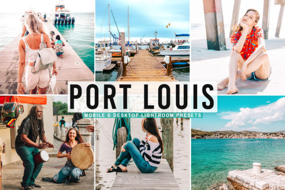 Print on Demand: Port Louis Pro Lightroom Presets Graphic Actions & Presets By Creative Tacos