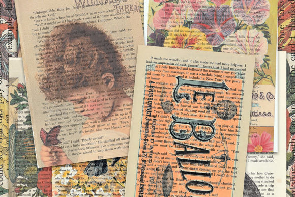 Print on Demand: Printed Vintage Book Pages Graphic Illustrations By LilBitDistressed