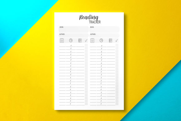 Reading Tracker Template Graphic KDP Interiors By Nickkey Nick