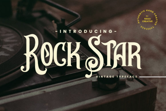 Print on Demand: Rock Star Serif Font By naulicrea