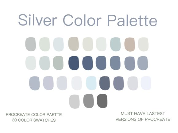 Silver Color Procreate Color Palette Graphic Actions & Presets By Centtaro_product