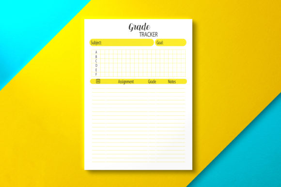 Student Grade Tracker PDF Graphic KDP Interiors By Nickkey Nick