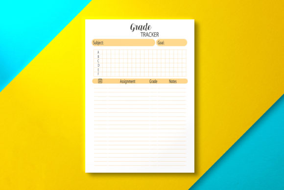 Student Grade Tracker Template, PDF Graphic KDP Interiors By Nickkey Nick
