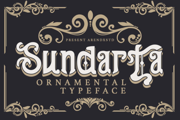 Print on Demand: Sundarta Blackletter Font By Arendxstudio
