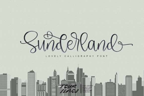 Print on Demand: Sunderland Script & Handwritten Font By Fourlines.design