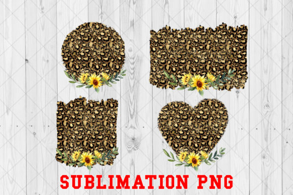 Print on Demand: Sunflower Leopard Frame Sublimation Graphic Crafts By Ten Times Studio
