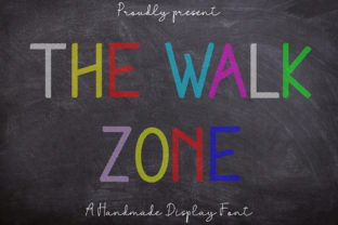 Print on Demand: The Walk Zone Display Font By Coretanletter