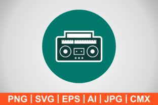 Print on Demand: Vector Audio Tape Icon Graphic Icons By IYIKON