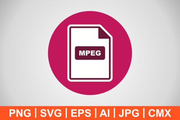 Print on Demand: Vector MPEG Icon Graphic Icons By IYIKON