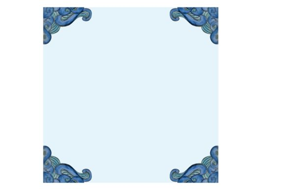 Watercolor Blue Wave Ornament Background Graphic Design
