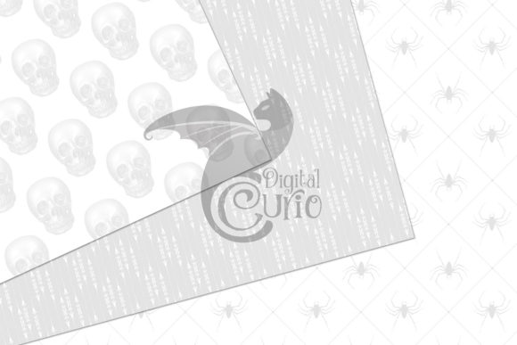 Print on Demand: White Gothic Digital Paper Graphic Backgrounds By Digital Curio - Image 4
