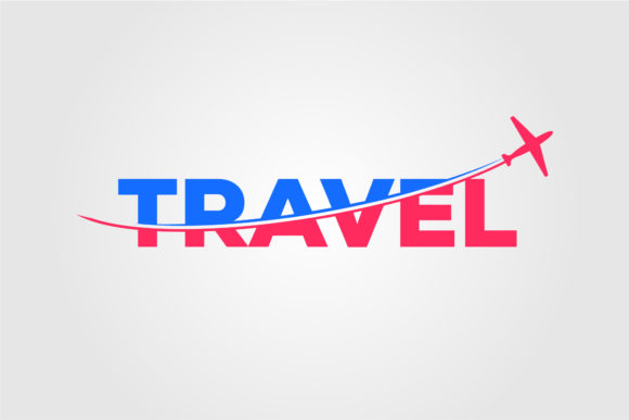 Airplane Slice Travel Logo Vector Design Graphic Logos By lawoel