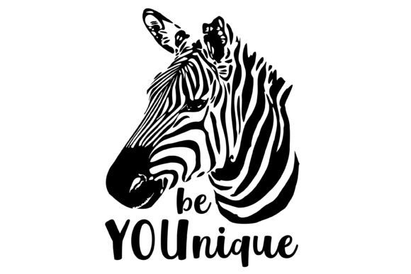 Be YOUnique Zebra Graphic Crafts By lormudesigns