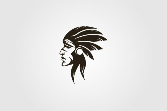 Indian Apache Face Vector Sdesign Graphic Objects By lawoel