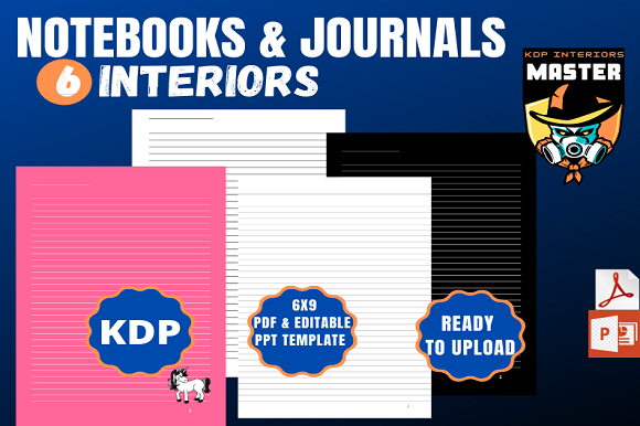 Print on Demand: Journals & Notebook(6 KDP Interiors) Graphic KDP Interiors By KDP_Interiors_Master