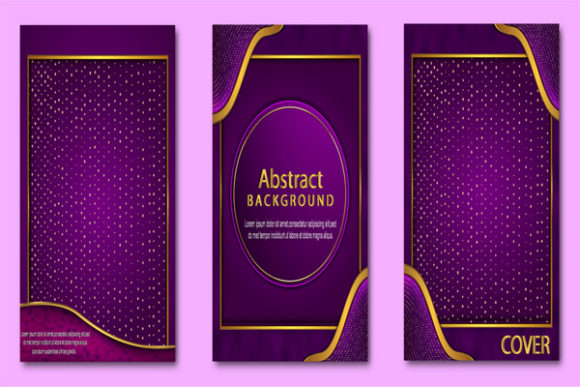 Print on Demand: Set Collection Luxury Abtract Cover Graphic Graphic Templates By imammuslim835