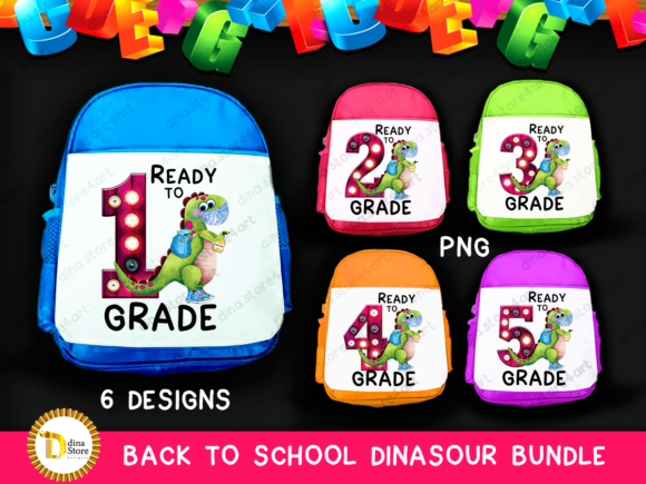 Sublimation Back to School Dinasour Png Graphic Crafts By dina.store4art