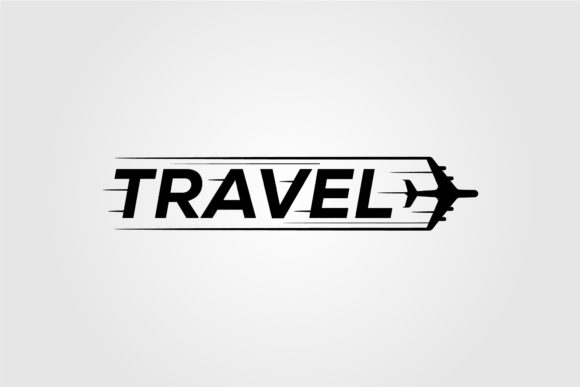 Travel Symbol Logo Design with Airplane Graphic Logos By lawoel