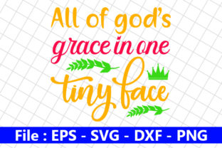 All of God's Grace in One Tiny Face Graphic Print Templates By creative_store
