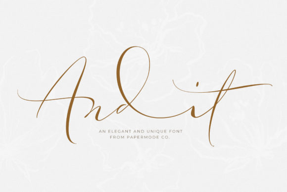 Print on Demand: Andit Script & Handwritten Font By Papermode Co.