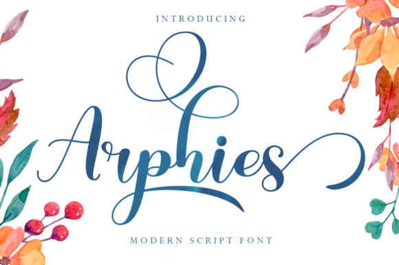 Print on Demand: Arphies Script & Handwritten Font By Skinny type