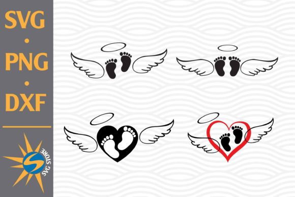 Print on Demand: Baby Feet Wing Graphic Crafts By SVGStoreShop