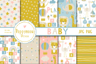 Print on Demand: Baby Paper Set Graphic Patterns By poppymoondesign