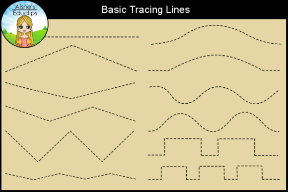 Print on Demand: Basic Tracing Lines Graphic Teaching Materials By Aisne Educlips