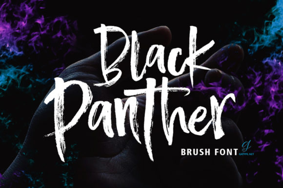 Print on Demand: Black Panther Script & Handwritten Font By gatype