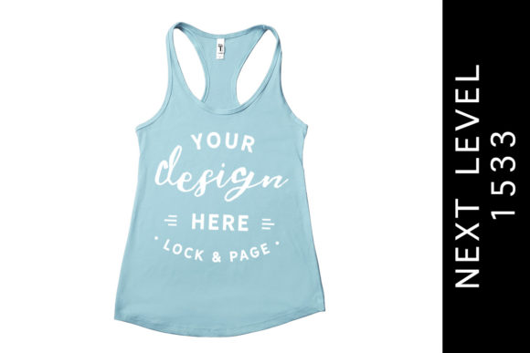 Blue Cancun Next Level 1533 Tank Top Graphic Product Mockups By lockandpage