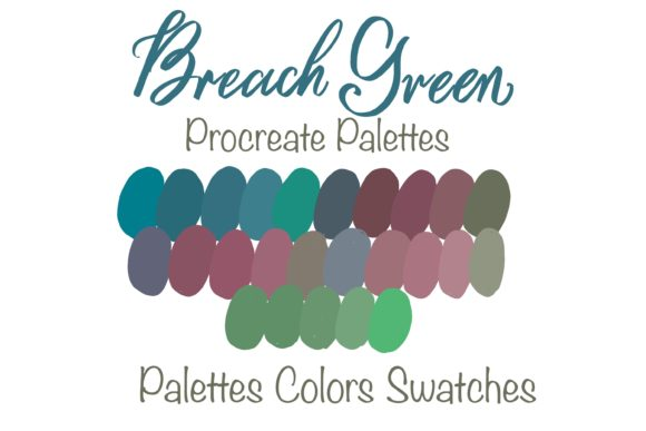 Breach Green Palettes Graphic Add-ons By PoyJazz