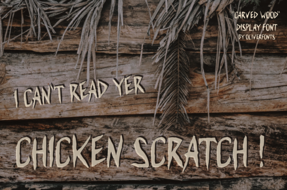 Carved Wood Font Preview