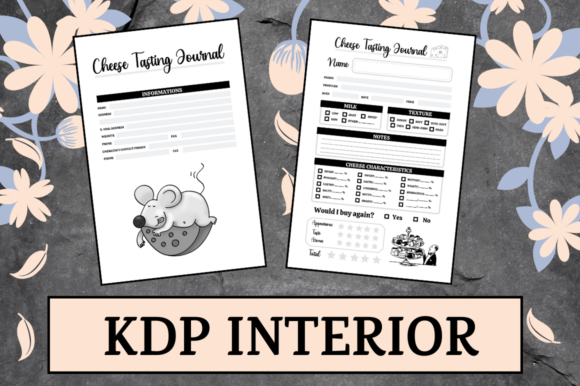 Print on Demand: Cheese Tasting Journal | KDP Interior Graphic KDP Interiors By KDP Mastermind