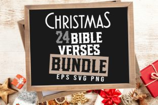 Print on Demand: Christmas Bible Verses Bundle Graphic Print Templates By Universtock
