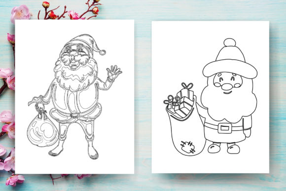 Print on Demand: Christmas Santa Claus Coloring Page -KDP Graphic Coloring Pages & Books Adults By Sei Ripan - Image 2