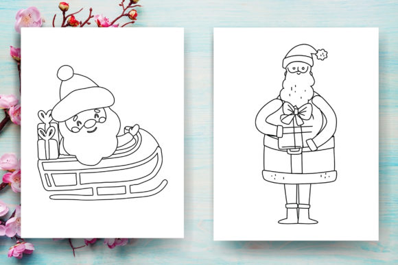 Print on Demand: Christmas Santa Claus Coloring Page -KDP Graphic Coloring Pages & Books Adults By Sei Ripan - Image 3