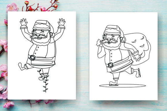 Print on Demand: Christmas Santa Claus Coloring Page -KDP Graphic Coloring Pages & Books Adults By Sei Ripan - Image 4