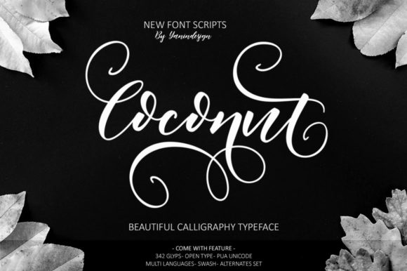 Print on Demand: Coconut Script & Handwritten Font By YanIndesign