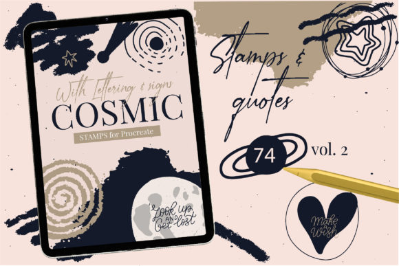 Cosmic Constellations Universe Procreate Graphic Brushes By cyrilliclettering