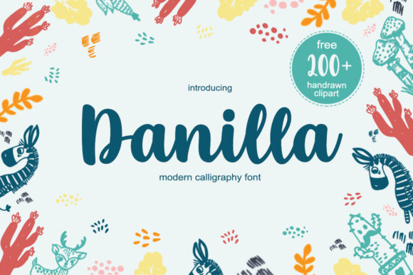 Print on Demand: Danilla Script & Handwritten Font By Fillo Graphic