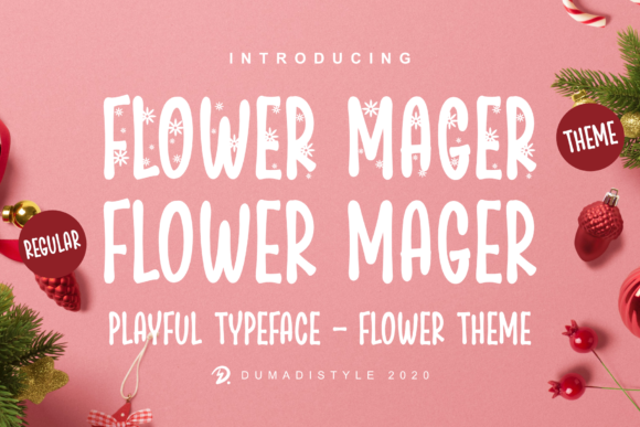 Print on Demand: Flower Mager Display Font By DUMADI